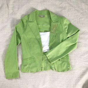 LunaChix Blazer: Green, Medium